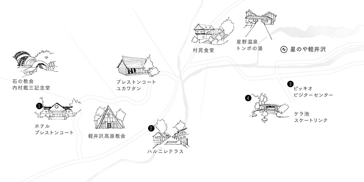 軽井沢散策マップ