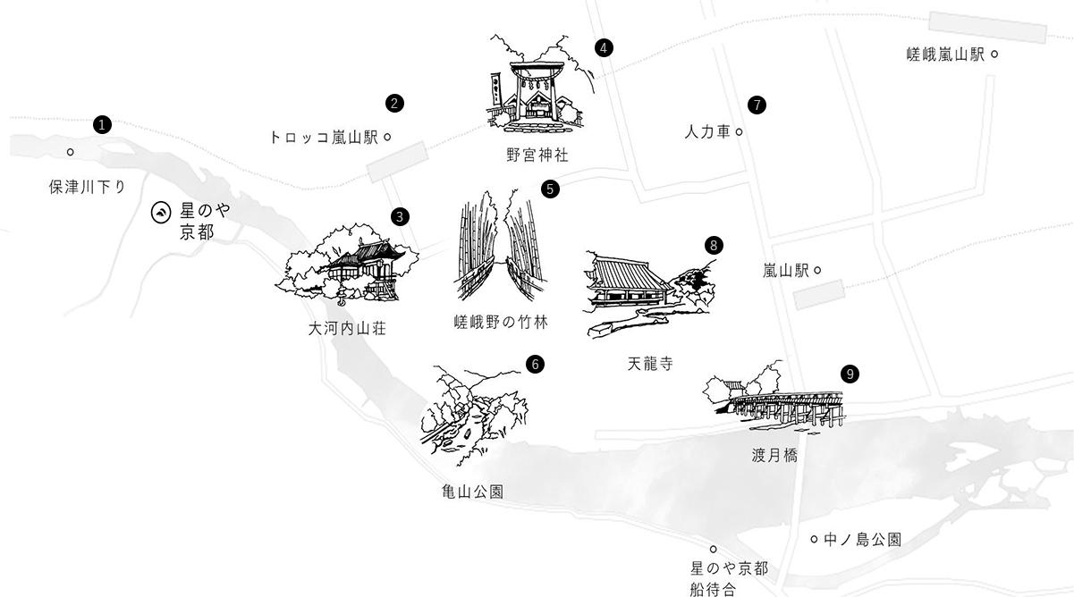 竹富島散策マップ