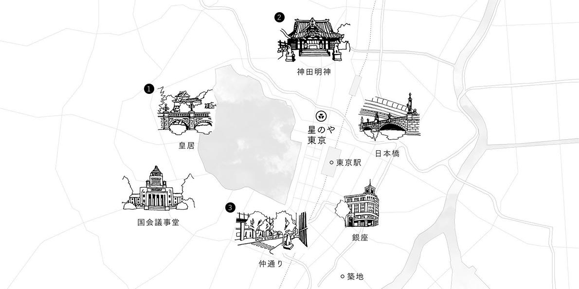 東京散策マップ