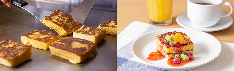 鉄板焼のフレンチトースト