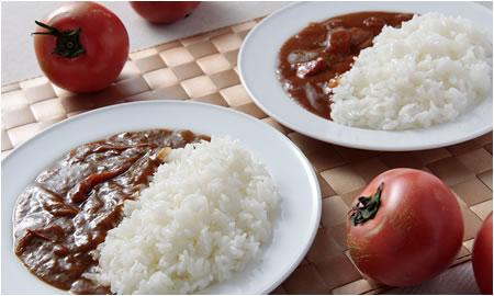 トマトのカレーとハヤシ
