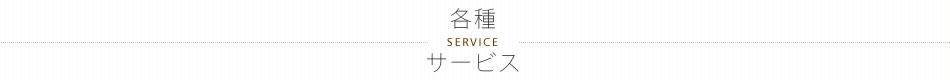 各種サービス